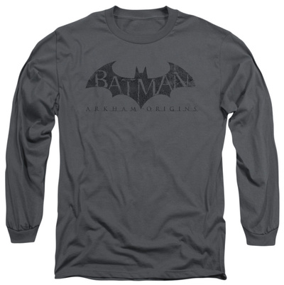 Long Sleeve: Batman Arkham Origins - Crackle Logo Long Sleeves