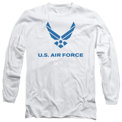 Long Sleeve: Air Force - Distressed Logo Long Sleeves