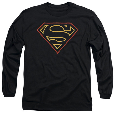 Long Sleeve: Superman - Colored Shield T-Shirt
