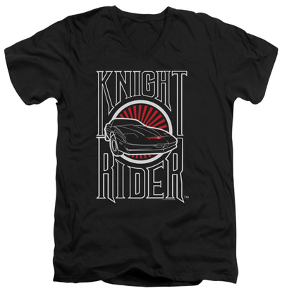 Knight Rider - Logo V-Neck Shirt