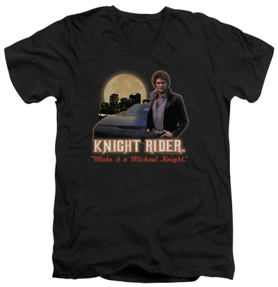 Knight Rider - Full Moon V-Neck T-shirts
