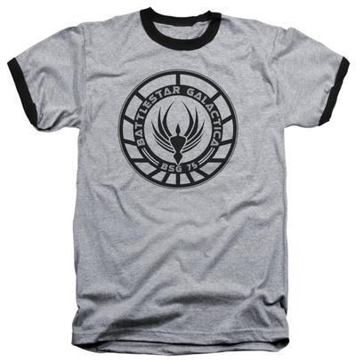 Battlestar Galactica - Galactica Badge Ringer Shirts