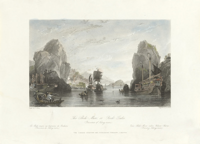 The Shih-Mun or Rock Gates (Province of Kiang-nan) Premium Giclee Print by Thomas Allom
