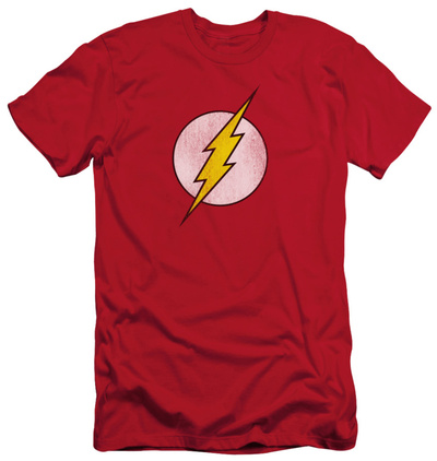 The Flash - Flash Logo Distressed (slim fit) T-shirts