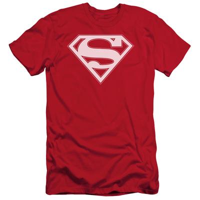 Superman - Red & White Shield (slim fit) Shirts