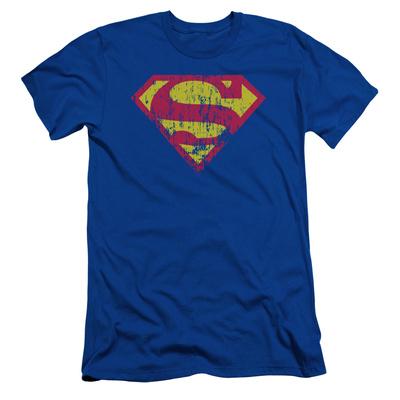 Superman – Classic Logo Distressed (slim fit) T-shirts