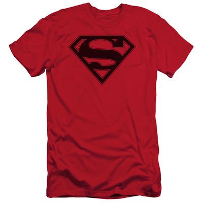Superman - Red & Black Shield (slim fit) Shirt