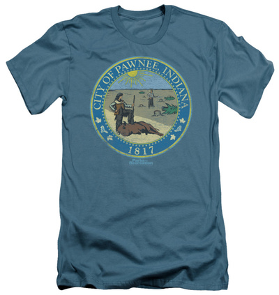 Parks & Recreation - Distressed Pawnee Seal (slim fit) Shirts