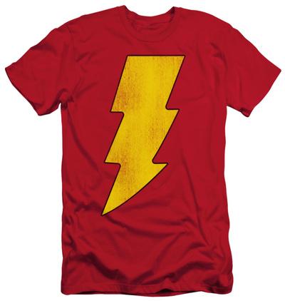 Shazam - Shazam Logo Distressed (slim fit) T-Shirt