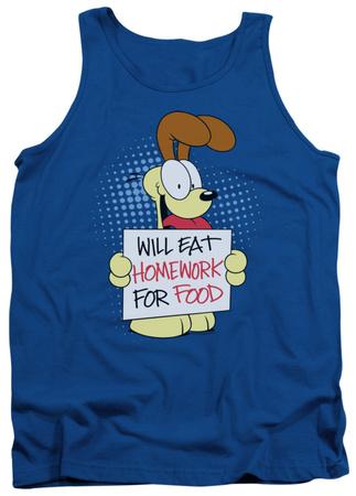 Tank Top: Garfield - Will Eat Homework Tank Top