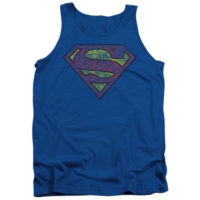 Tank Top: Superman - Tattered Shield Tank Top