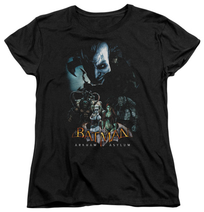 Womens: Batman Arkham Asylum - Five Against One T-Shirt
