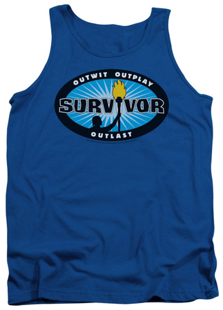 Tank Top: Survivor - Blue Burst Tank Top