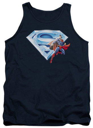 Tank Top: Superman - Superman & Crystal Logo Tank Top