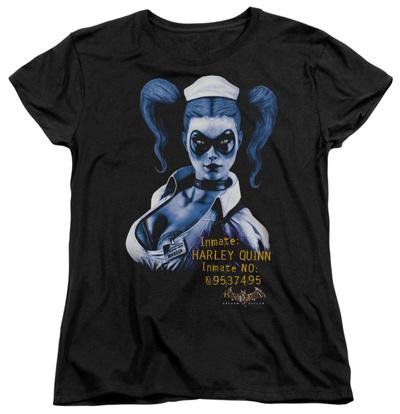 Womens: Batman Arkham Asylum - Arkham Harley Quinn T-shirts