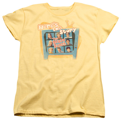Womens: Brady Bunch - Here's The Story T-shirts
