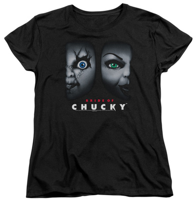 Womens: Bride Of Chucky - Happy Couple Shirt