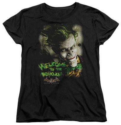 Womens: Batman Arkham Asylum - Welcome To The Madhouse Shirts