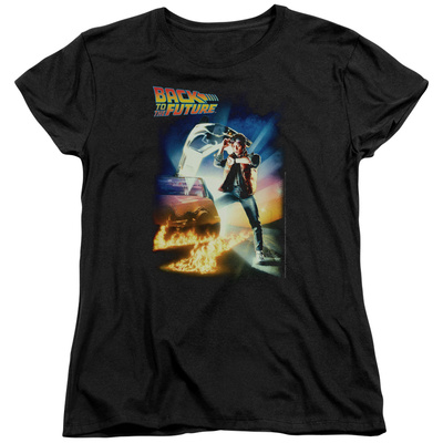 Womens: Back To The Future - Poster T-Shirt