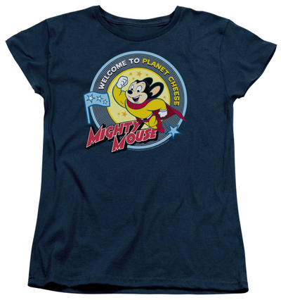 Womens: Mighty Mouse – Planet Cheese Shirt