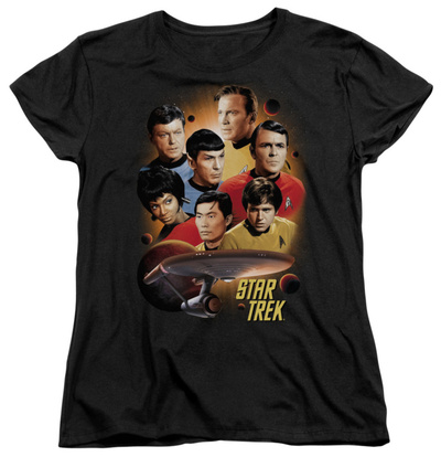 Womens: Star Trek - Heart Of The Enterprise T-Shirt