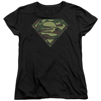 Womens: Superman - Camo Logo T-shirts