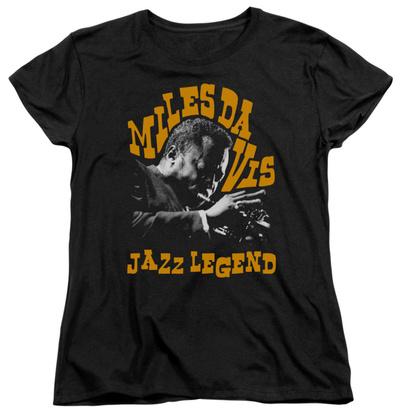 Womens: Miles Davis - Jazz Legend T-Shirt