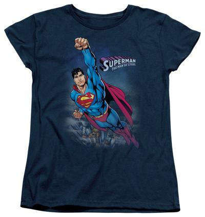 Womens: Superman – Twilight Flight T-Shirt