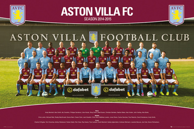 Aston Villa Team Photo 14/15 Poster!