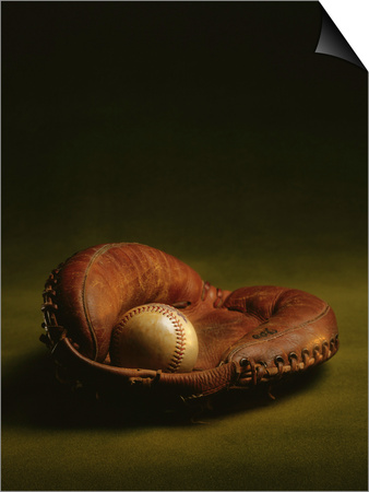 Glove and Baseball Prints by James L. Amos