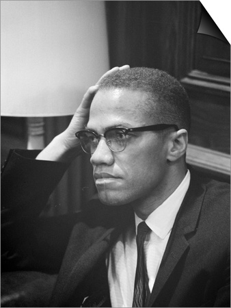 Malcolm X waits at Martin Luther King Press Conference, 1964 Prints by Marion S. Trikosko