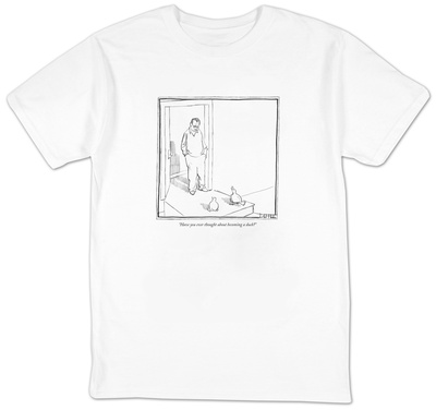 """Have you ever thought about becoming a duck"" – New Yorker Cartoon T-Shirt by Matthew Diffee"