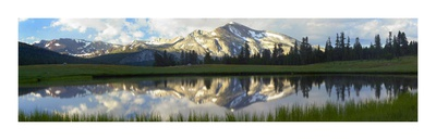 Panorama of Mammoth Peak and Kuna Crest, Yosemite National Park, California Print by Tim Fitzharris