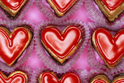 Heart-Shaped Sweets Photographic Print by Josh Westrich
