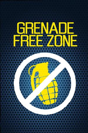 Jersey Shore Grenade Free Zone Blue Mesh TV Poster Print Planscher