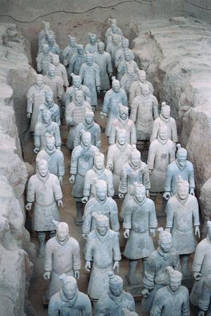Terra Cotta Soldiers in Qin Shi Huangdi Tomb Fotoprint