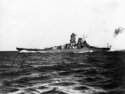 Japanese Battleship Yamato. Fotoprint