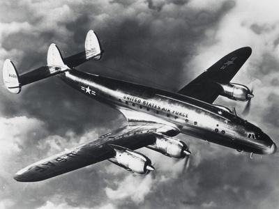 USAF Lockheed Constellation Transport Airplane Fotoprint