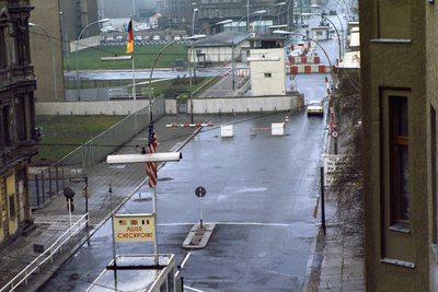 Checkpoint Charlie at Berlin Wall Photographic Print