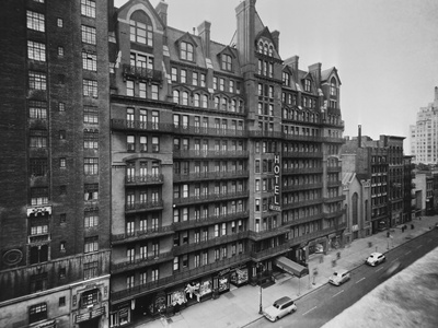 Exterior View of Chelsea Hotel in New York City Photographic Print