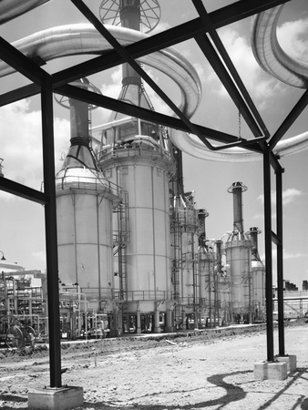 Texaco Refinery Photographic Print by Charles Rotkin