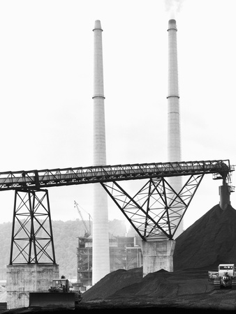 Mine-Mouth Power Plant at Cresap's Bottom Photographic Print by Charles Rotkin