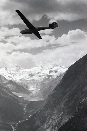 Glider in Mountains Photographic Print by Charles Rotkin