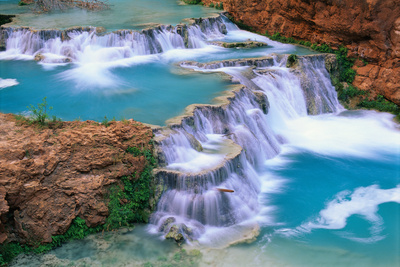 Supai Havasupai Beaver Falls Supai Creek, popular college travel destination
