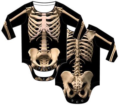 Infant: Skeleton Costume Romper Infant Onesie