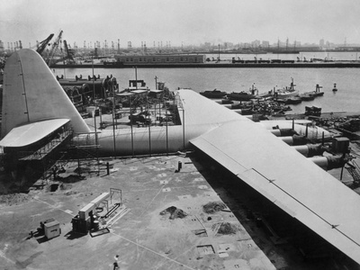 The Spruce Goose under Construction Photographic Print