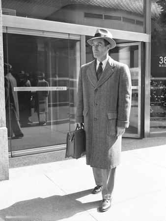Salesman Leaving Madison Avenue Office Photographic Print by Philip Gendreau