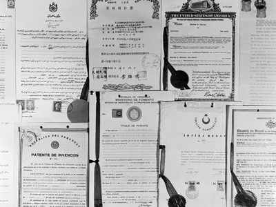 Patent Certificates Photographic Print by Charles Rotkin