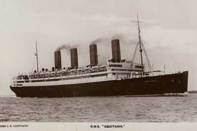 Cunard Liner RMS Aquitania Photographic Print