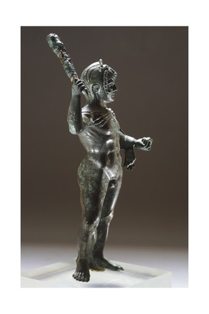 Bronze Statue of Hercules in Battle, from Villa Cassarini Giclee Print
